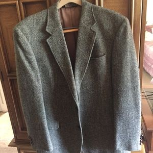 Harris Tweed Wool Sports Coat 44L